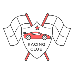 Corrida do carro do carro bandeira estrela colorido emblema adesivo