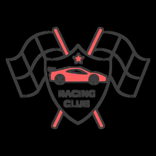 Racing club car flag star colored badge sticker Transparent PNG
