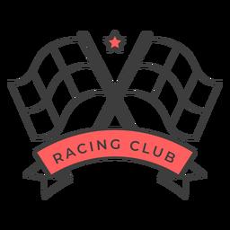 Etiqueta engomada coloreada de la insignia de la estrella de la bandera del club de carreras