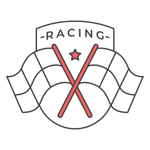 Racing flag star colored badge sticker Transparent PNG