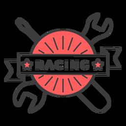 Insignia de color con llave de destornillador de carreras