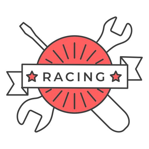Racing screwdriver wrench colored badge sticker Transparent PNG