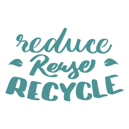 Reducir la reutilización reciclar la etiqueta de la insignia de la hoja