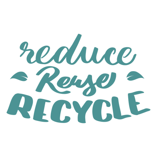 Reduce reuse recycle leaf badge sticker Transparent PNG