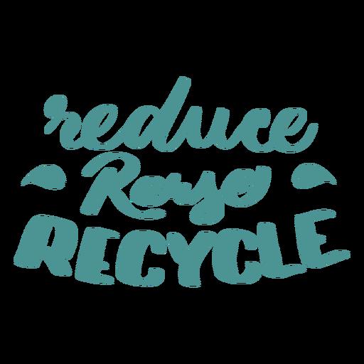 Reducir reutilizar reciclar etiqueta de placa de la hoja Transparent PNG