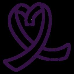 Ribbon tape heart stroke