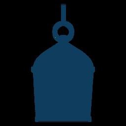 Silhueta de lâmpada de anel ícone de lâmpada