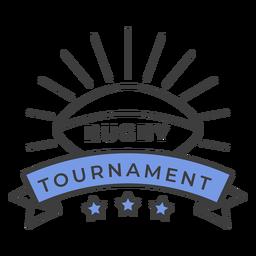 Estrela de bola de torneio de rugby colorido adesivo de crachá