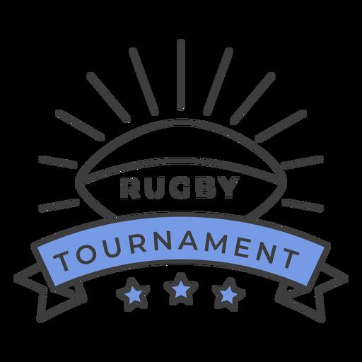 Estrela de bola de torneio de rugby colorido adesivo de crachá Transparent PNG