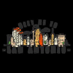 Autocolante de skyline de San Antonio