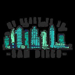 Autocolante de skyline de San diego