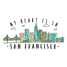 San francisco city skyline - Transparent PNG & SVG vector