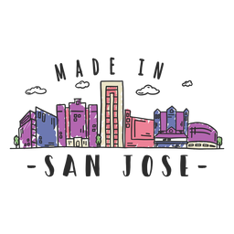 San jose skyline sticker