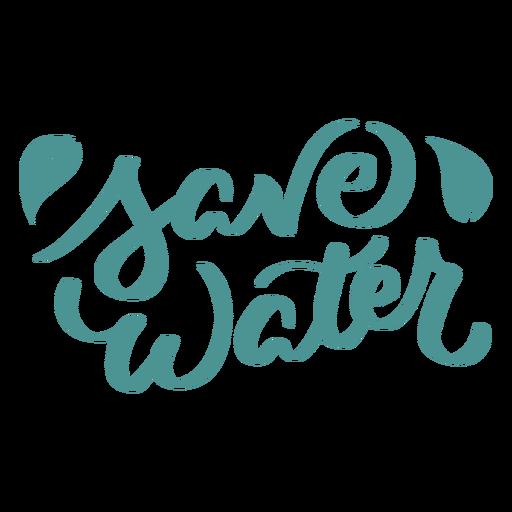 Save water leaf badge sticker Transparent PNG