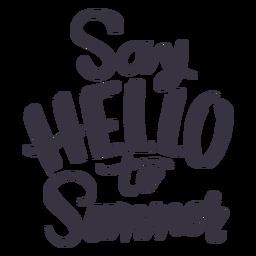 Diga olá ao adesivo de distintivo de verão