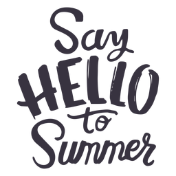 Saluda a la etiqueta de la insignia de verano.