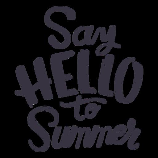 Saluda a la etiqueta de la insignia de verano. Transparent PNG