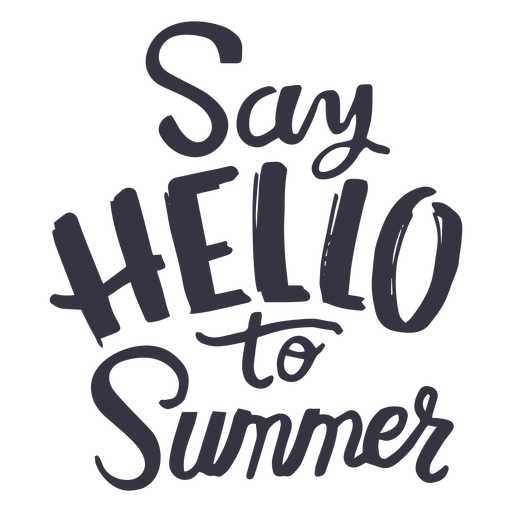 Say hello to summer badge sticker Transparent PNG