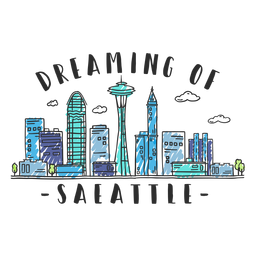 Autocolante de skyline de Seattle