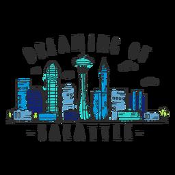 Pegatina del horizonte de Seattle
