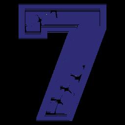 Silhueta de sete padrões