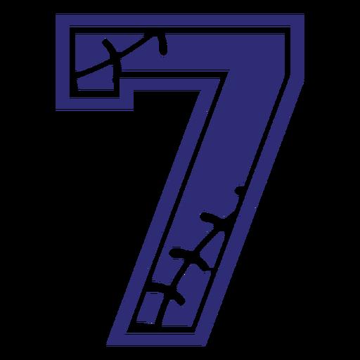 Silueta de siete patrones Transparent PNG