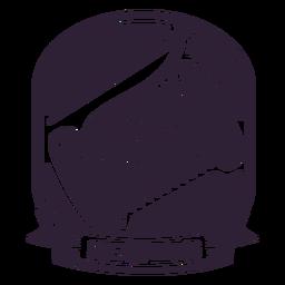 Etiqueta engomada de la insignia del carrete del hilo de la aguja de coser