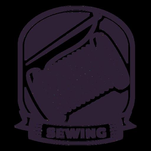 Sewing needle thread reel badge sticker