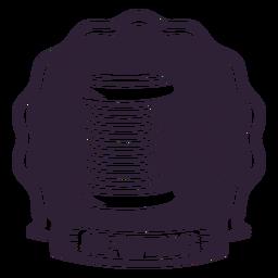 Aguja de coser hilo carrete insignia etiqueta costura