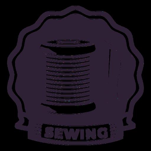 Aguja de coser hilo carrete insignia etiqueta costura Transparent PNG