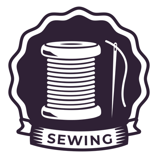 Sewing needle thread reel badge sticker sewing