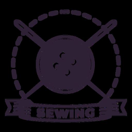 Etiqueta de botón de aguja de hilo de coser Transparent PNG