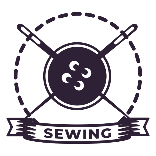 Sewing thread needle button badge sticker