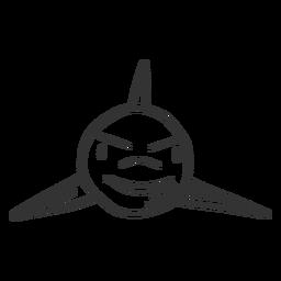 Doodle de aleta de tiburón