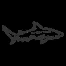 Doodle de cola de aleta de tiburón