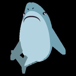 Haifischbackenflossenschwanz flach gerundet