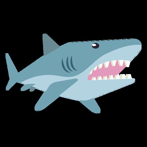 Diente de cola de aleta de tiburón cola redondeada plana Transparent PNG