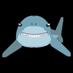 Cola de diente de aleta de tiburón cola redondeada plana