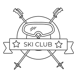 Curso de distintivo de pólo máscara clube de esqui