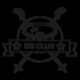 Ski Club Maskenstange Abzeichen Schlaganfall