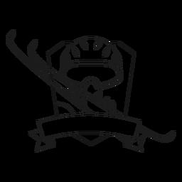 Esquí de la vida máscara de esquí línea de la insignia