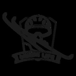 Curso de distintivo de esqui de máscara de vida de esqui