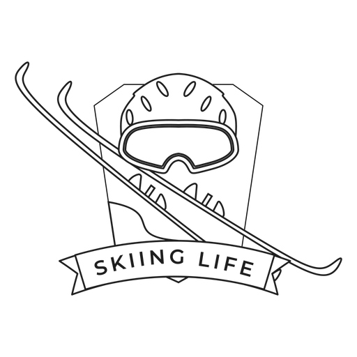 Curso de distintivo de esqui de máscara de vida de esqui Transparent PNG