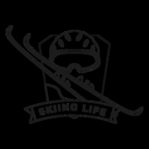 Skiing life mask ski badge stroke Transparent PNG