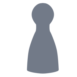 Skittle pawn silhouette