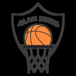 Etiqueta do emblema colorido da borda da bola do estrume