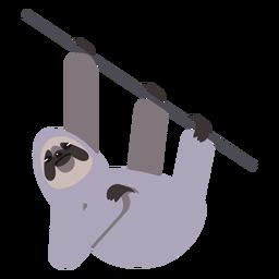 Árvore de ramo de garra de focinho de preguiça arredondada plana