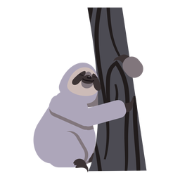 Árvore de garra de focinho de preguiça arredondada plana