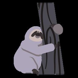 Faultier Maulklauenbaum flach gerundet
