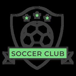 Etiqueta engomada coloreada estrella de la bola del club de fútbol